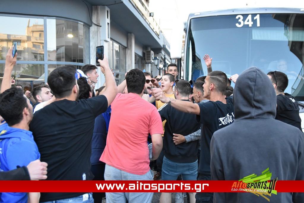 Θερμή υποδοχή για τους πρωταθλητές της ΑΕΜ στο Μεσολόγγι – Νίκη με 1-2 μέσα στο Νεοχώρι! (video + pics)